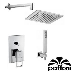 Набор встраиваемой душевойя системы Paffoni KITEF015CR2 (смеситель,  ручным душ,  лейка)  хром