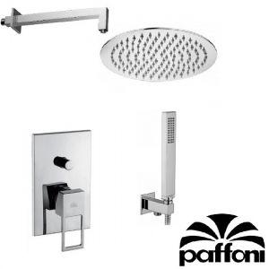 Набор встраиваемой душевойя системы Paffoni KITEF015CR1 (смеситель,  ручным душ,  лейка)  хром