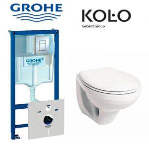 Инсталляция Grohe Rapid SL (4-в-1) комплект 38775001 с унитазом Kolo Idol M1310000 + сиденье