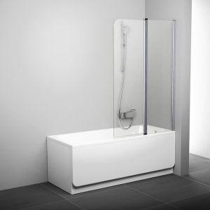 Штора для ванны CVS2-100 L сатин+Transparent
