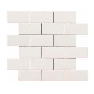 Плитка декор Adex MODERNISTA Декор Liso PB C/C Blanco (5х10) Enmallado  30.5x30.9 mm ADMO1030