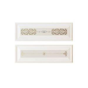 Плитка декор Piemme Valentino Boiserie RilievoV Bianco (комплект из 2 плиток) 9,5х30 см