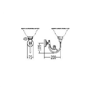 Кронштейн для светильника Devon&Devon Essex Arm хром