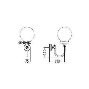 Кронштейн для светильника Devon&Devon Yeats Arm хром