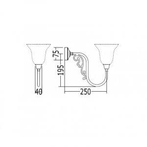 Кронштейн для светильника Devon&Devon Windsor Arm хром