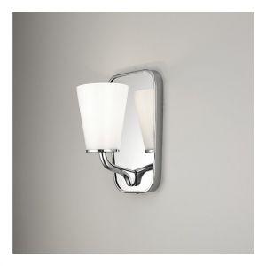 Светильник с зеркалом для ванной Devon&Devon Twinkle никель сатинированный