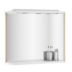 Зеркало Ravak Praktik 780х680х160 мм, береза/белый