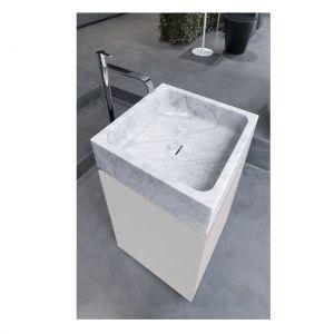 База отдельностоящая с раковиной из камня Antonio Lupi BLOKKO цвет Bianco lucido