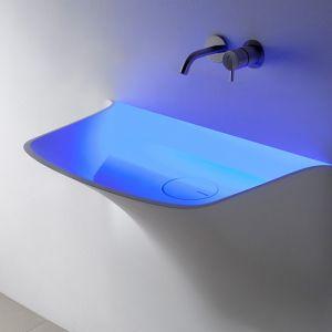Раковина встраиваемая в стену Antonio Lupi SOFFIO с подсветкой