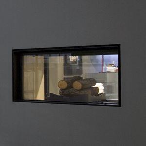 Камин двухсторонний на дровах Antonio Lupi FILOSKEMA с функцией отопления