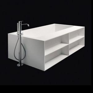 Ванна из материала Corian 180х100 см Antonio Lupi Biblio 2Lati