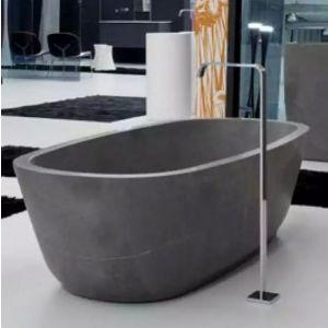 Ванна из материала керамогранит 190х130 см Antonio Lupi Solidea Stone Grey