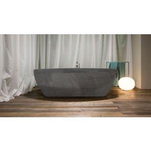 Ванна из материала керамогранит 210х130 см Antonio Lupi Solidea Stone Grey
