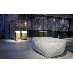 Ванна из материала керамогранит 190х130 см Antonio Lupi Solidea Marmo Carrara