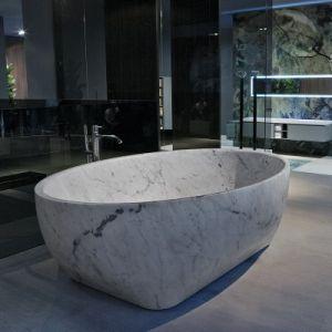 Ванна из материала керамогранит Antonio Lupi Solidea Marmo Carrara 210 х 130 см