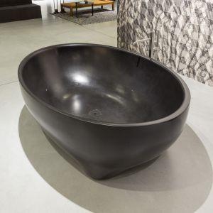 Ванна из материала керамогранит Antonio Lupi Solidea Nero Marquinia 190 х 130 см