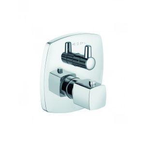 Встраиваемый смеситель для ванны и душа с термостатом Kludi Q-Beo (цвет- хром)