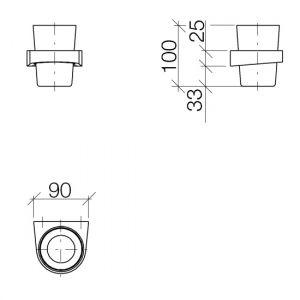 Стакан для зубных щеток настенный Dornbracht CL.1 (цвет - платина матовая)