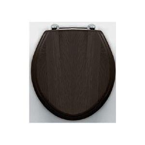 Крышка, цвет-белый/хром Devon&Devon ROSE е из массива дуба темного цвета