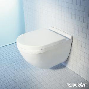 Унитаз подвесной Duravit Starck 3 с сиденьем для унитаза с микролифтом Soft Close