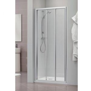 Раздвижная дверь для ниши, разные размеры Duka Dukessa 3000 glass new 80х190 см (профиль - матовое серебро; стекло - прозрачное)