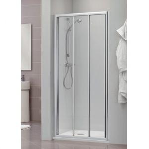 Раздвижная дверь для ниши, разные размеры Duka Dukessa 3000 glass new 90х190 см (профиль - матовое серебро; стекло - прозрачное)