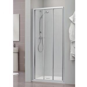 Раздвижная дверь для ниши, разные размеры Duka Dukessa 3000 glass new 95х190 см (профиль - матовое серебро; стекло - прозрачное)