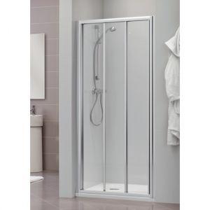 Раздвижная дверь для ниши, разные размеры Duka Dukessa 3000 glass new 110х190 см (профиль - матовое серебро; стекло - прозрачное)
