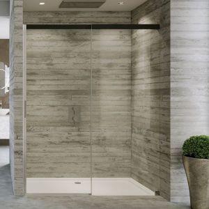 Душевые двери Duka Acqua 5000 140х200 см (профиль - хром/серебро глянцевое; стекло - прозрачное со вставкой сверху)