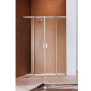 Душевая дверь Duka Acqua 5000 200х200 см (профиль - хром; стекло - прозрачное со вставкой сверху)