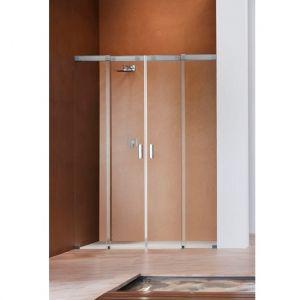 Душевая дверь Duka Acqua 5000 220х200 см (профиль - хром; стекло - прозрачное со вставкой сверху)
