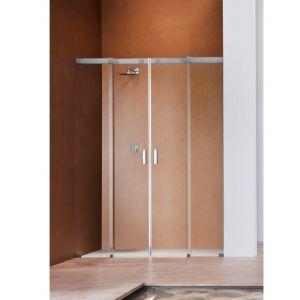 Душевая дверь Duka Acqua 5000 240х200 см (профиль - хром; стекло - прозрачное со вставкой сверху)