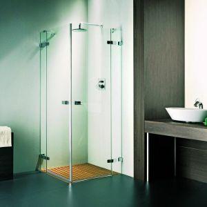 Душевая дверь Duka Vetra 3000 безрамная с распашными дверями 80х195 см (профиль - хром; стекло - прозрачное)