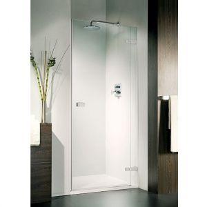 Дверь для ниши Duka Vetra 3000 безрамная 80х195 см (профиль - хром; стекло - прозрачное)