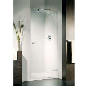 Дверь для ниши Duka Vetra 3000 безрамная 90х195 см (профиль - хром; стекло - прозрачное)