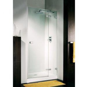 Дверь для ниши Duka Vetra 3000 безрамная 100х195 см (профиль - хром; стекло - прозрачное)