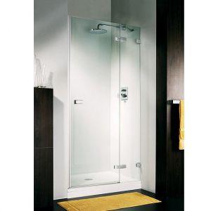 Дверь для ниши Duka Vetra 3000 безрамная 110х195 см (профиль - хром; стекло - прозрачное)