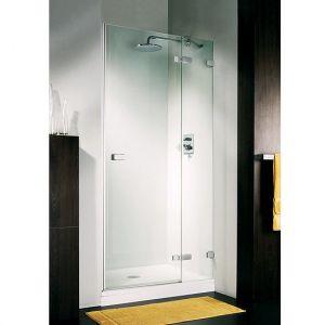 Дверь для ниши Duka Vetra 3000 безрамная 120х195 см (профиль - хром; стекло - прозрачное)