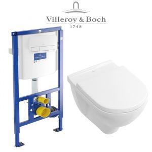 Инсталляция Villeroy & Boch ViConnect (4-в-1)  комплект с унитазом Villeroy & Boch O.Novo 5660HR01 + ( сиденье Soft Close)