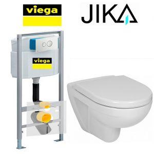 Инсталляция Viega Eco 713386 (4-в-1) комплект с унитазом Jika Lyra H8233800000001 + крышка (SoftClose)