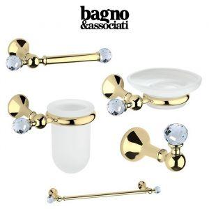 Комплект аксесуаров Bagno&Associati Folie, украшен многогранниками Swarovski