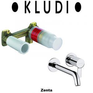 Комплект смеситель для раковины и внутренняя часть Kludi Zenta (цвет - хром)