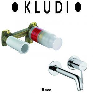 Комплект смеситель для раковины и внутренняя часть Kludi Bozz (цвет - хром)