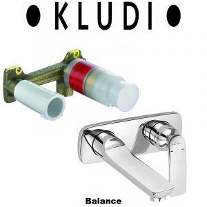 Комплект смеситель для раковины и внутренняя часть Kludi Balance (цвет - хром)