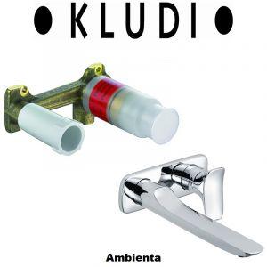 Комплект смеситель для раковины и внутренняя часть Kludi Ambienta (цвет - хром)