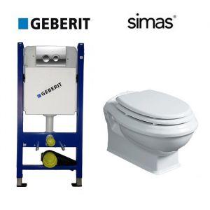 Комплект инсталляции Geberit Duofix (4-в-1) с унитазом Simas Arcade и крышкой SoftClose