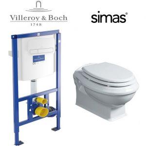 Инсталляция Villeroy&Boch (4-в-1) ViConnect комплект с унитазом Simas Arcade и крышкой SoftClose