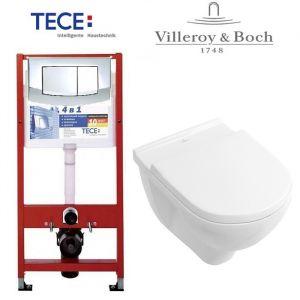 Инсталляция TECE (4-в-1) комплект с унитазом Villeroy & Boch O.Novo 5660HR01 + ( сиденье Soft Close)