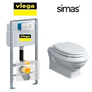 Инсталляция Viega Eco (4-в-1) с унитазом Simas Arcade и крышкой SoftClose