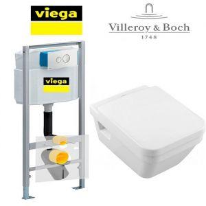Инсталляция Viega Eco (4-в-1) с унитазом Villeroy&Boch Architectura и крышкой SoftClose